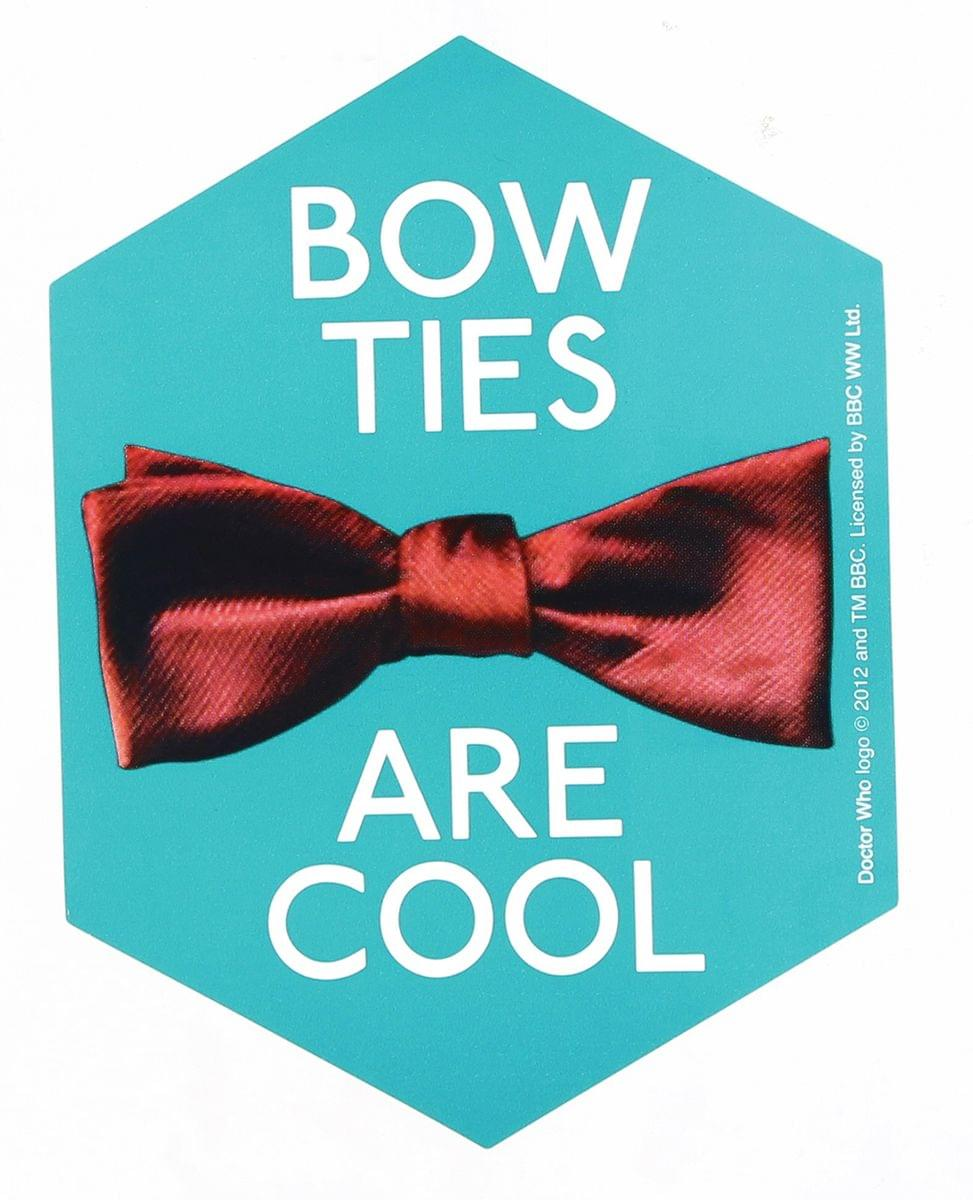 Doctor Who Sticker: Bow Ties Are Cool