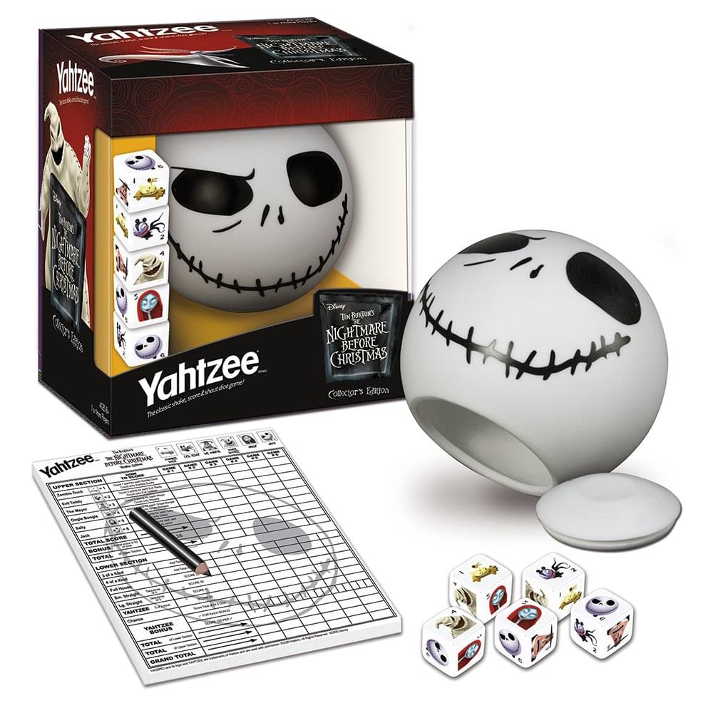 Nightmare Before Christmas Collector S Edition Yahtzee Dice Game Ebay