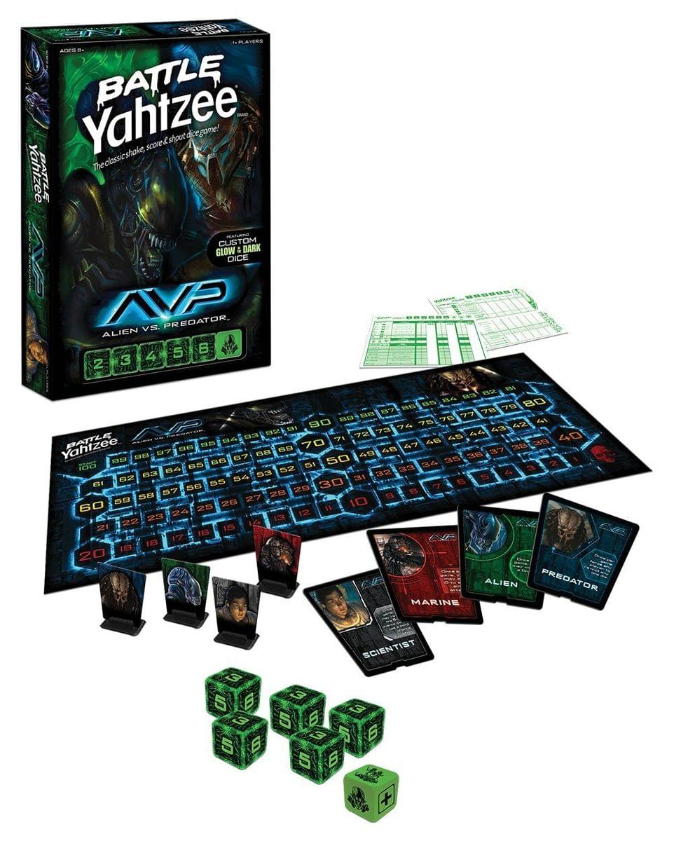 Alien vs. Predator Battle Yahtzee Dice Game