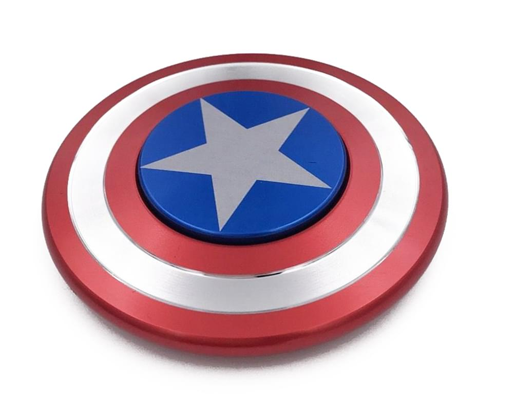 Captain America Shield Aluminum Fidget Spinner