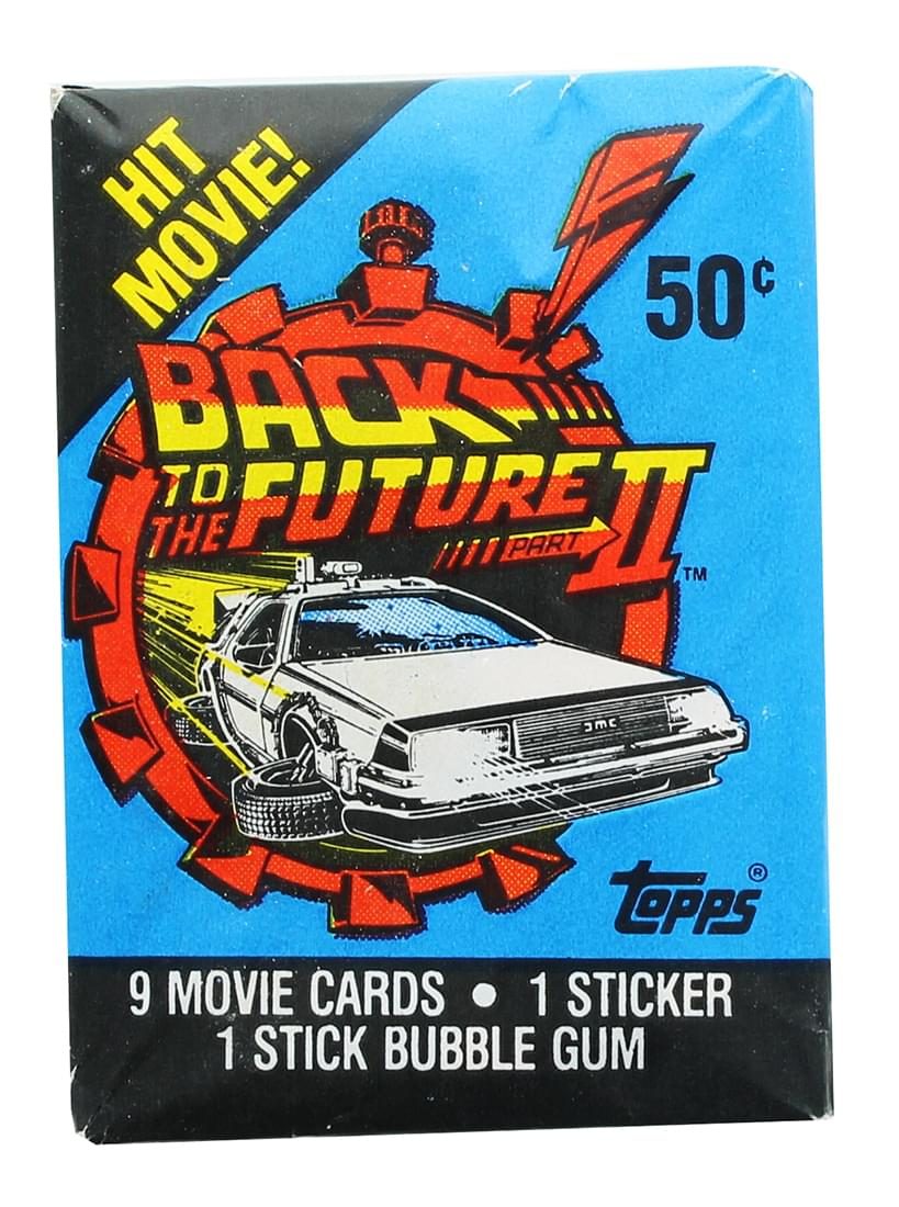 Back to the Future II 1989 Topps Single Trading Card Pack