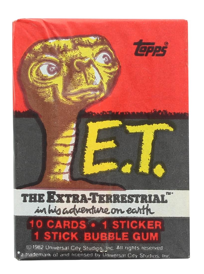 E.T. The Extra-Terrestrial 1982 Topps Single Trading Card Pack