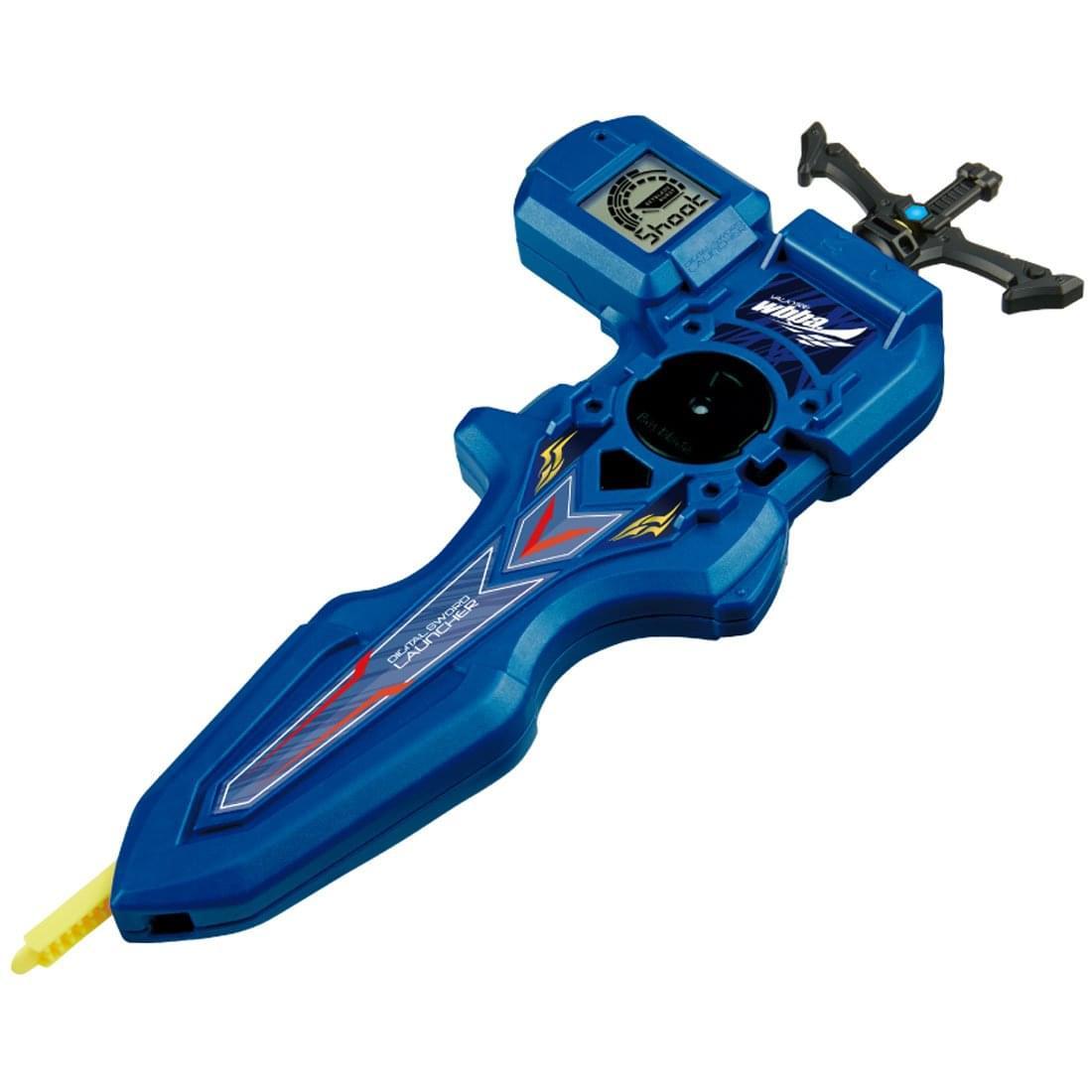 Beyblade Burst Takaratomy B-93 Digital Sword Launcher Blue