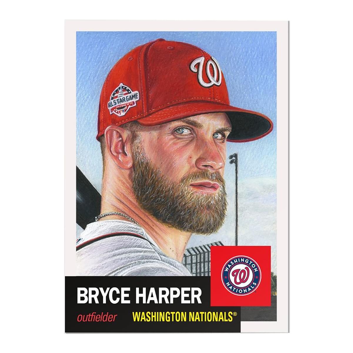 Washington Nationals #13 Bryce Harper MLB Topps Living Set Card