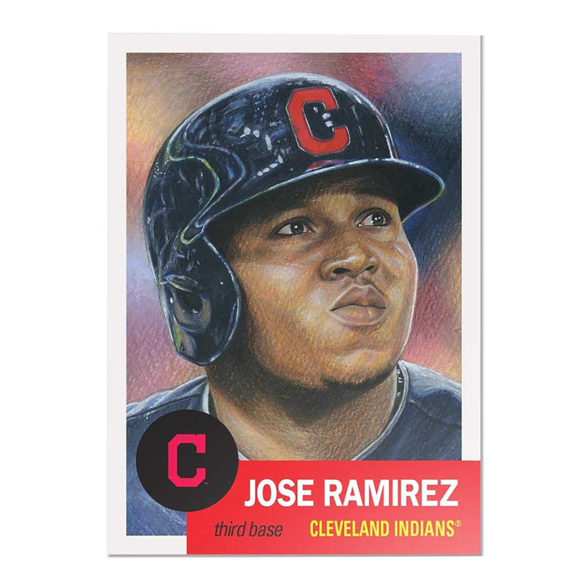 Cleveland Indians #20 Jose Ramirez MLB Topps Living Set Card