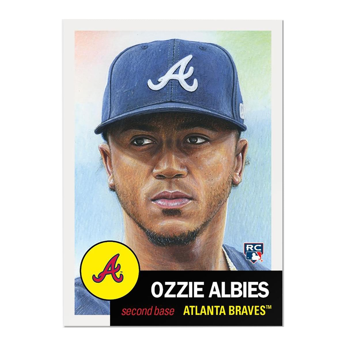 Atlanta Braves #32 Ozzie Albies MLB Topps Living Set Card