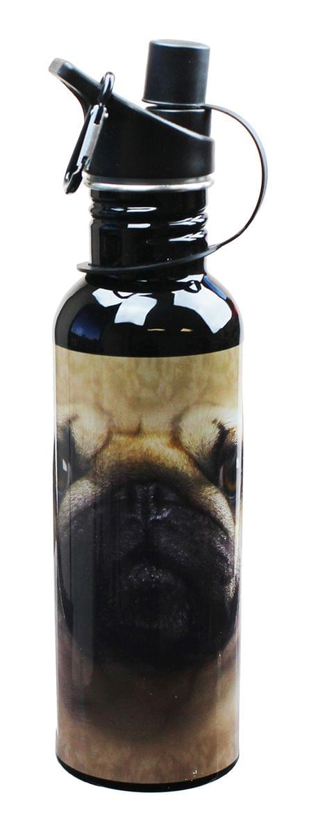 The Mountain Pug Face Water Bottle