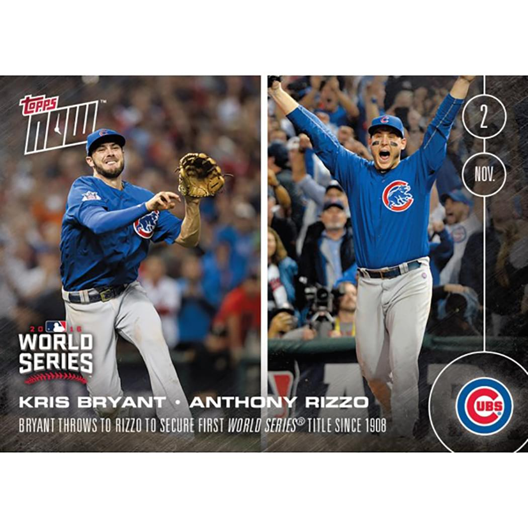 Topps NOW 1st World Series Since 1908 Bryant And Rizzo Card #663A