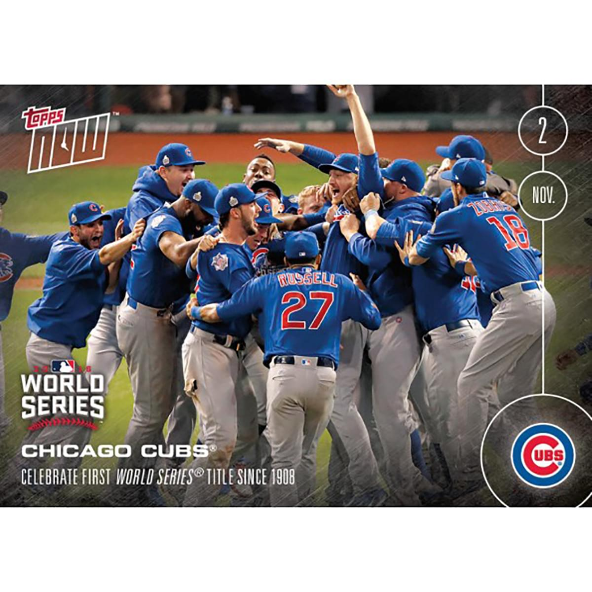 Chicago Cubs MLB Celebrate First World Series #665 2016 Topps NOW Trading Card