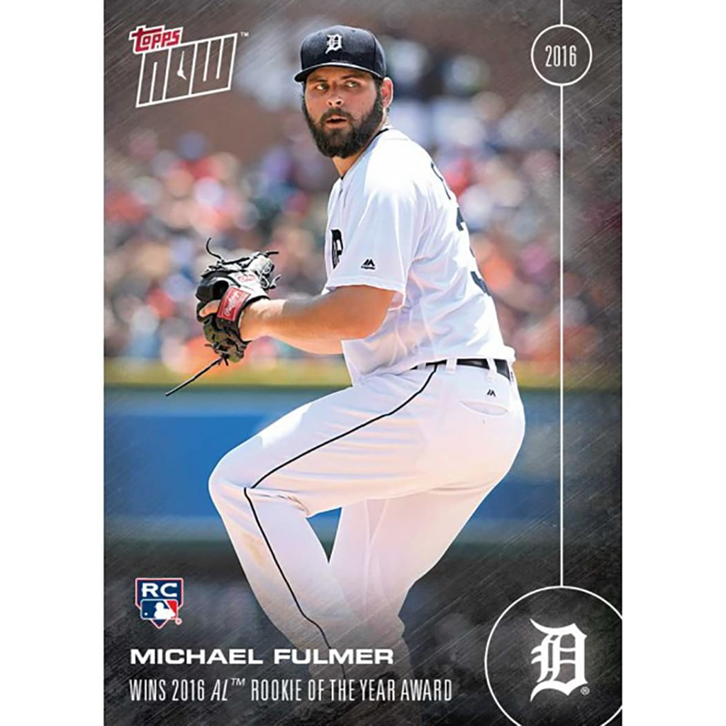 Topps NOW AL Rookie of Year Detroit Tigers Michael Fulmer RC Card #OS-17A