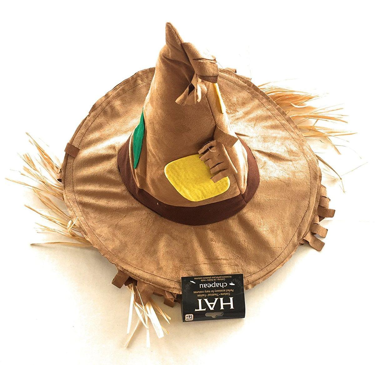 Scarecrow Costume Hat with Straw Hair | eBay