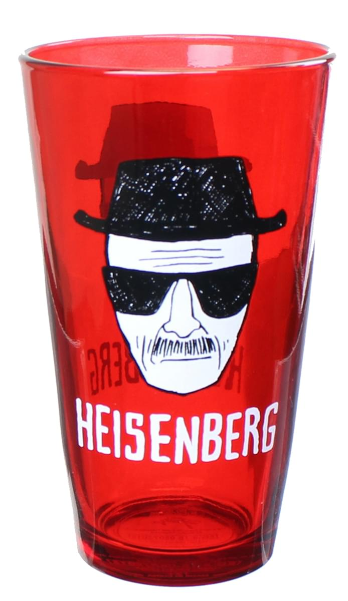 Breaking Bad Heisenberg Red 16oz Pint Glass