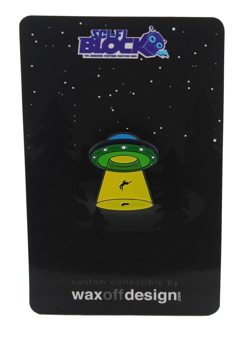 Alien Abduction Enamel Pin