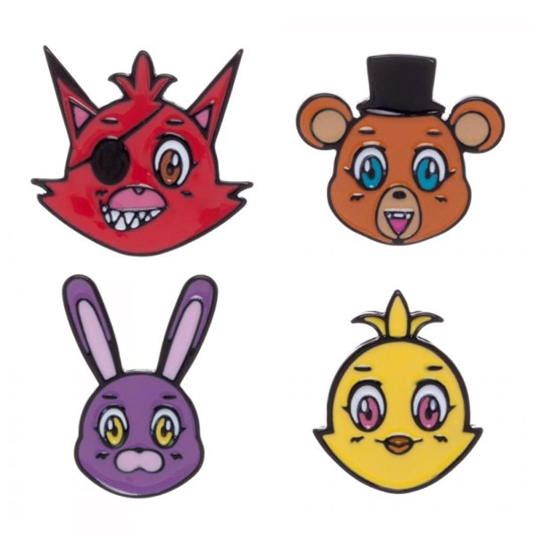 Five Nights at Freddy's Lapel Pin Set of 4