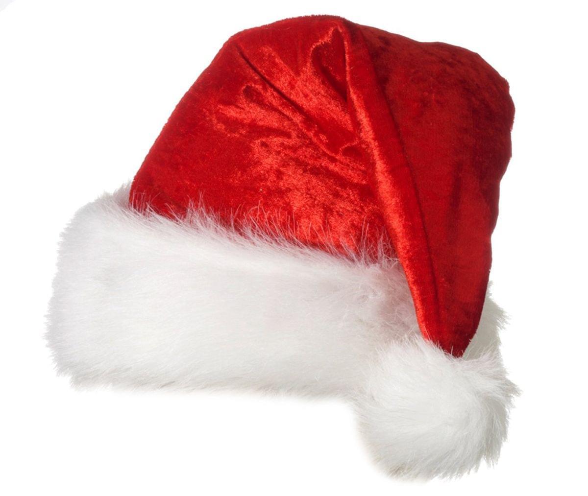 Christmas Velour Santa Claus Hat Xl Ebay
