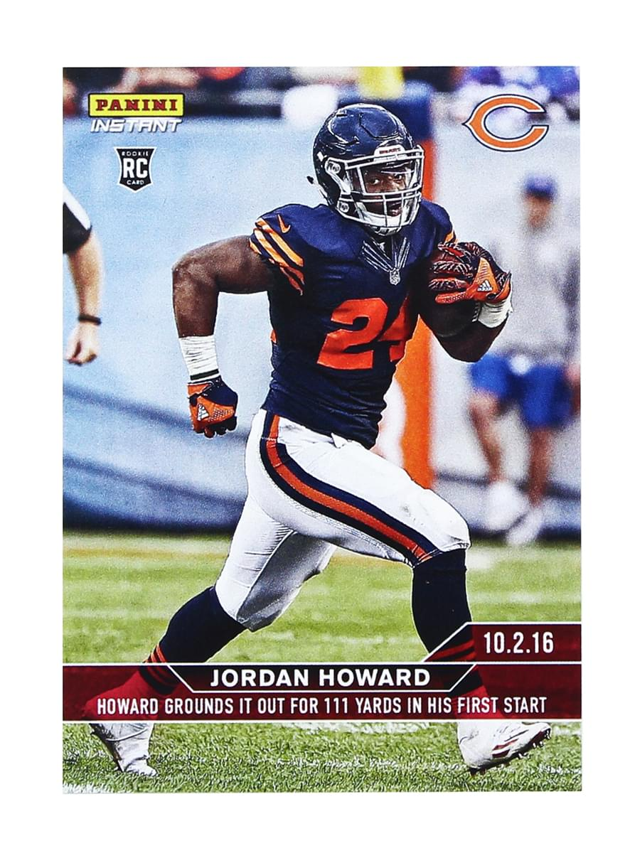 Chicago Bears Jordan Howard 2016 Panini Instant NFL Rookie Card #73