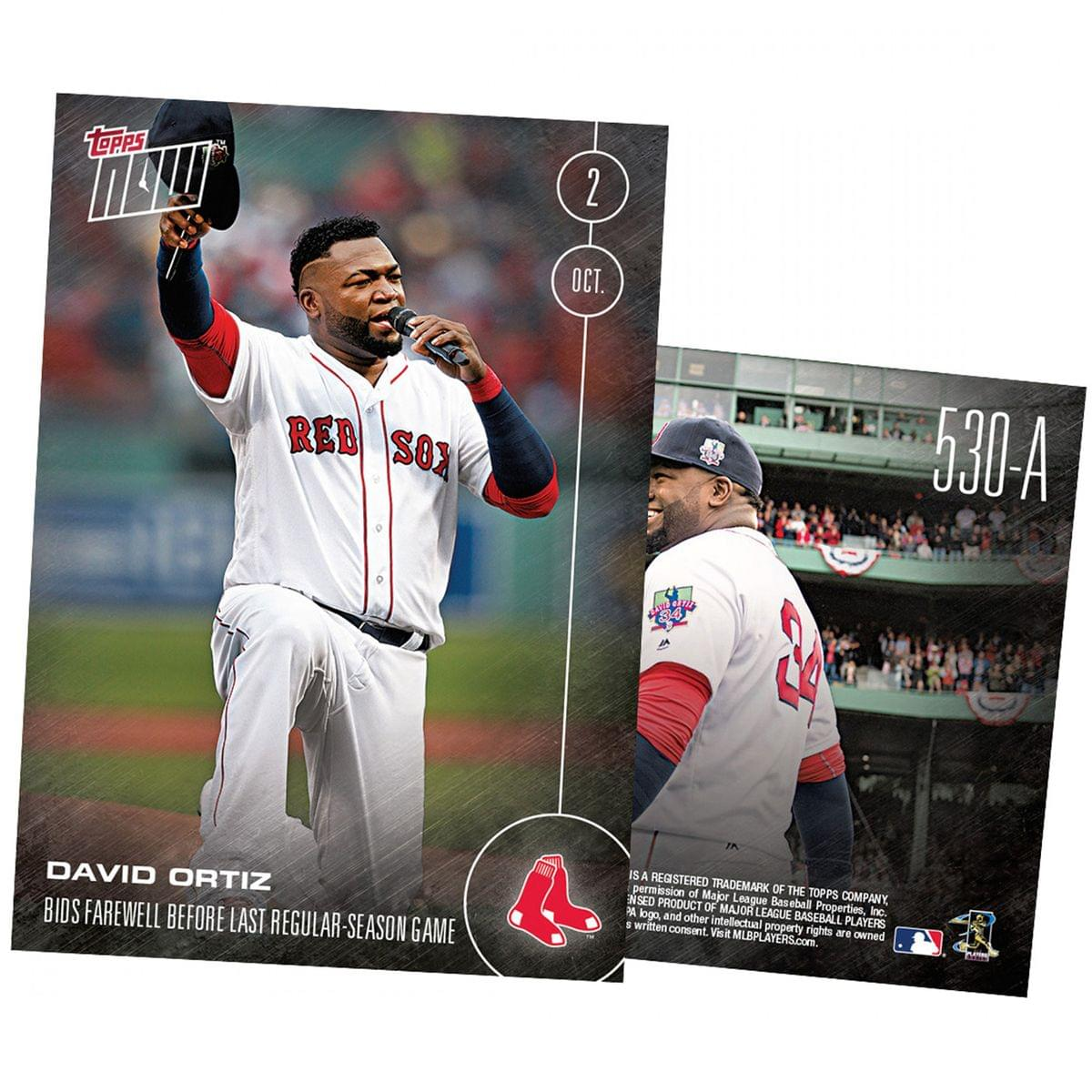 MLB Boston Red Sox David Ortiz #530A Topps NOW Trading Card