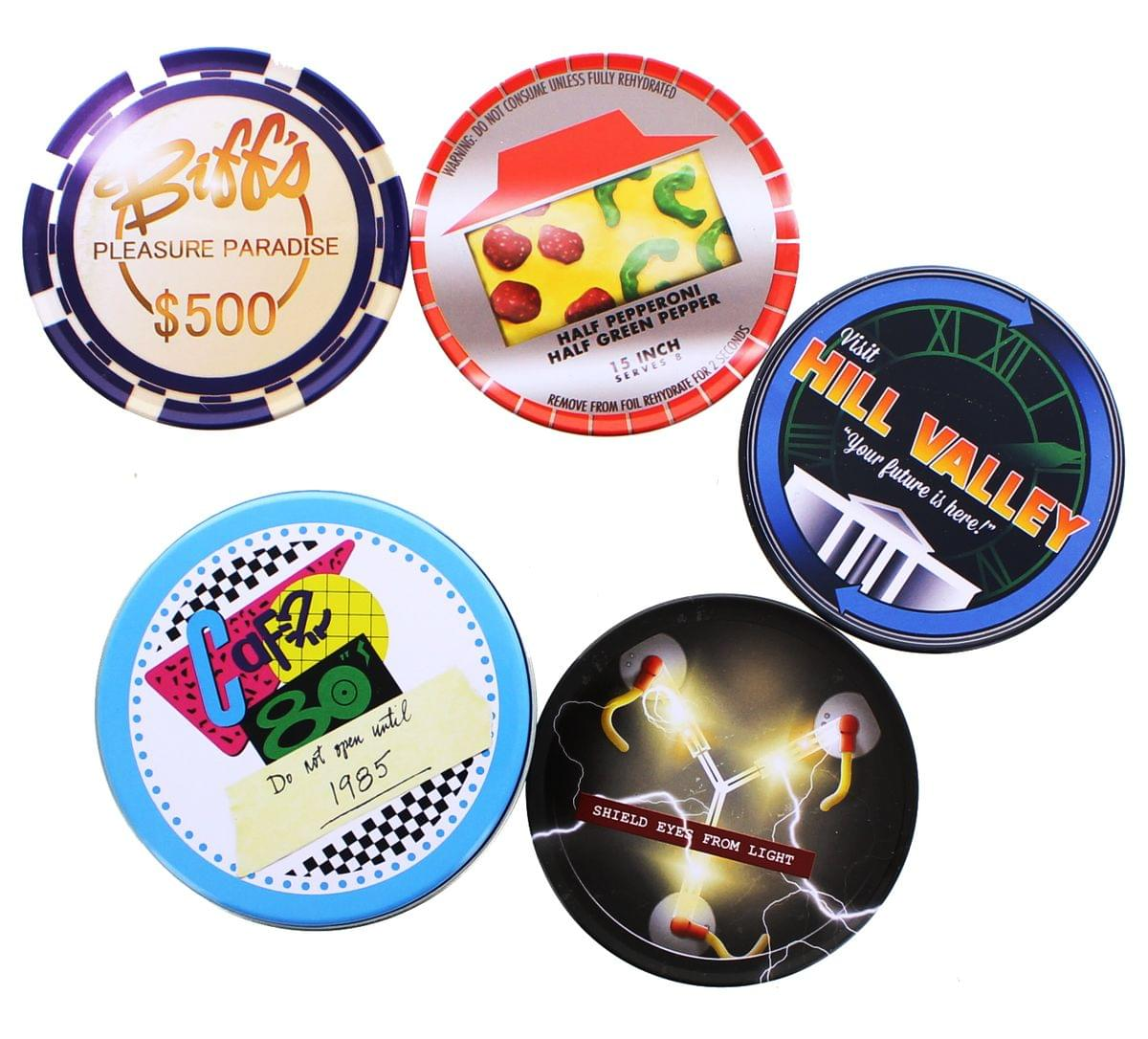 Back To The Future Café 80's 4-Piece Coaster Set