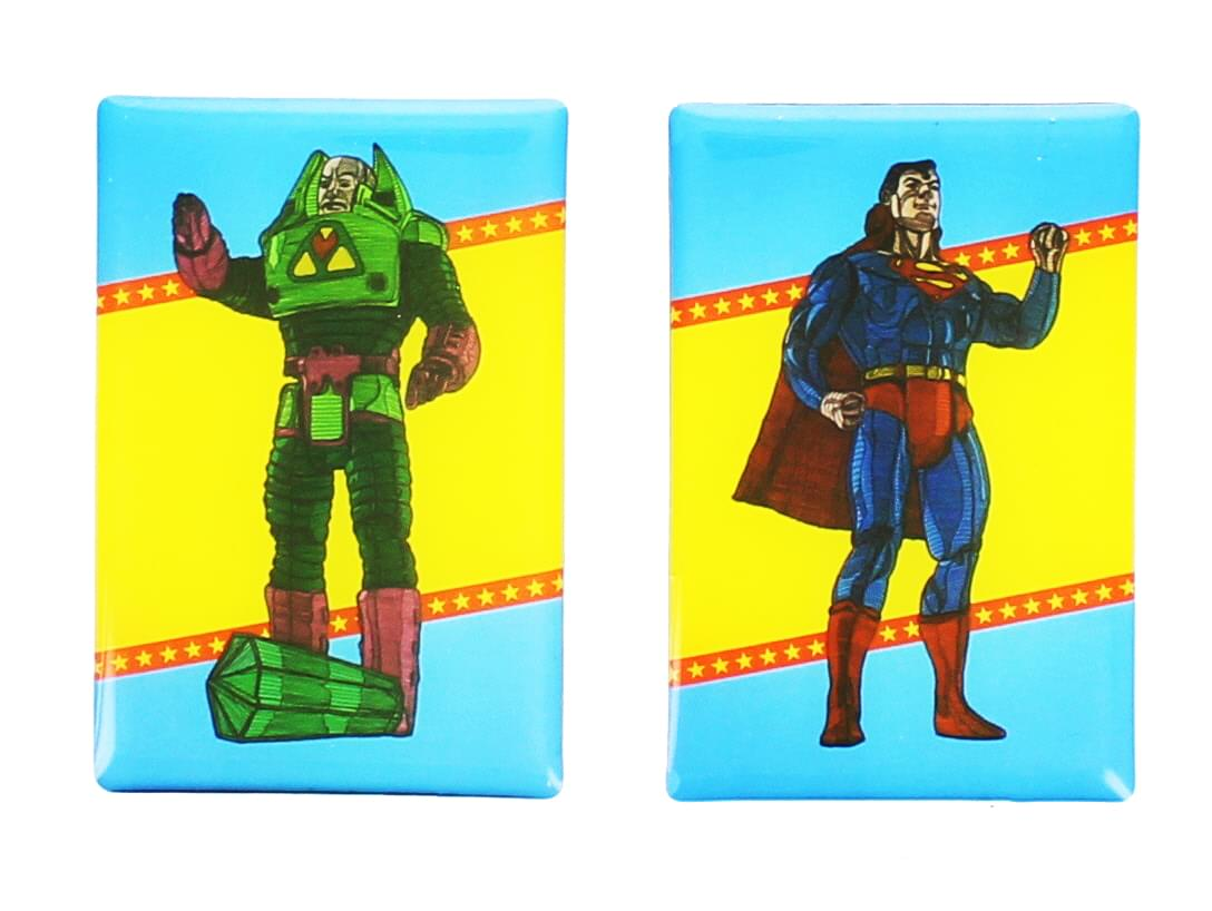 DC Comics Magnet Set: Superman and Lex Luthor