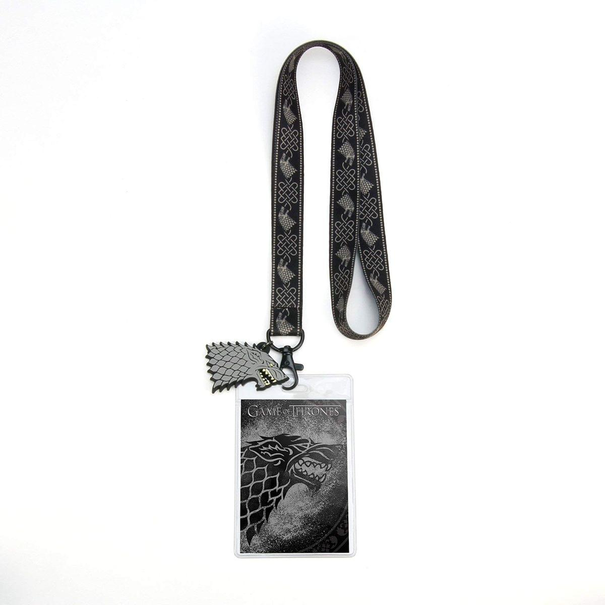Game of Thrones House Stark Lanyard w/ PVC Charm