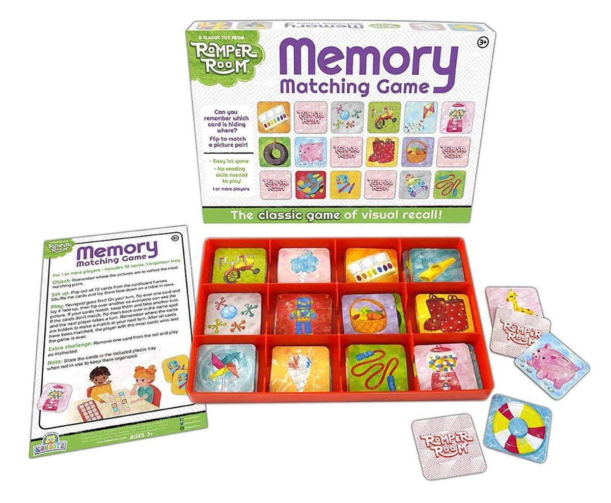 Romper Room Memory Card Game