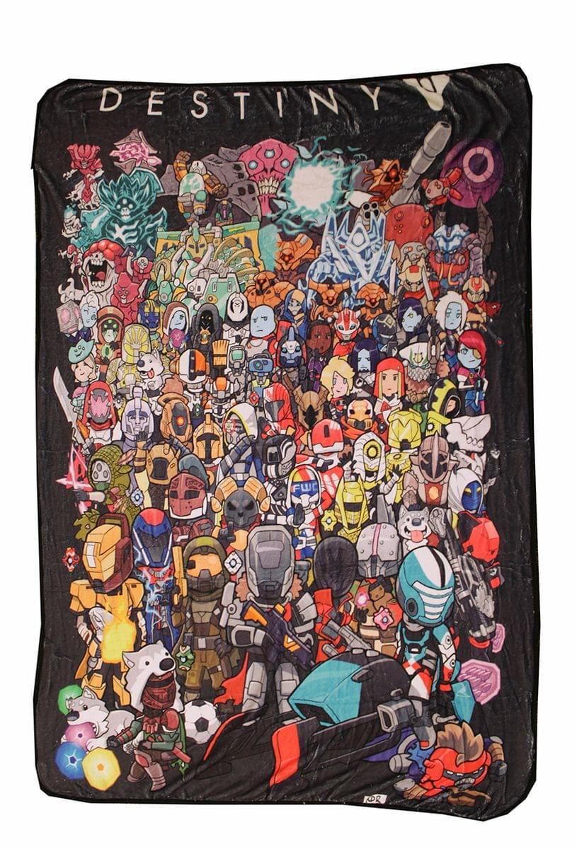 Chibi Characters Lightweight Fleece Throw Blanket | 45 x 60 Inches