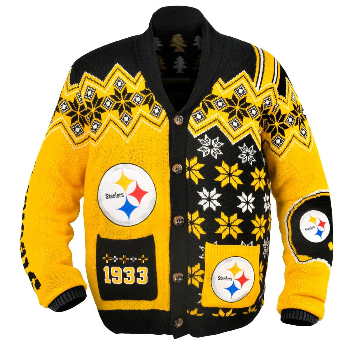 Pittsburgh Steelers NFL Adult Ugly Cardigan Sweater Medium ... 8c84840d2