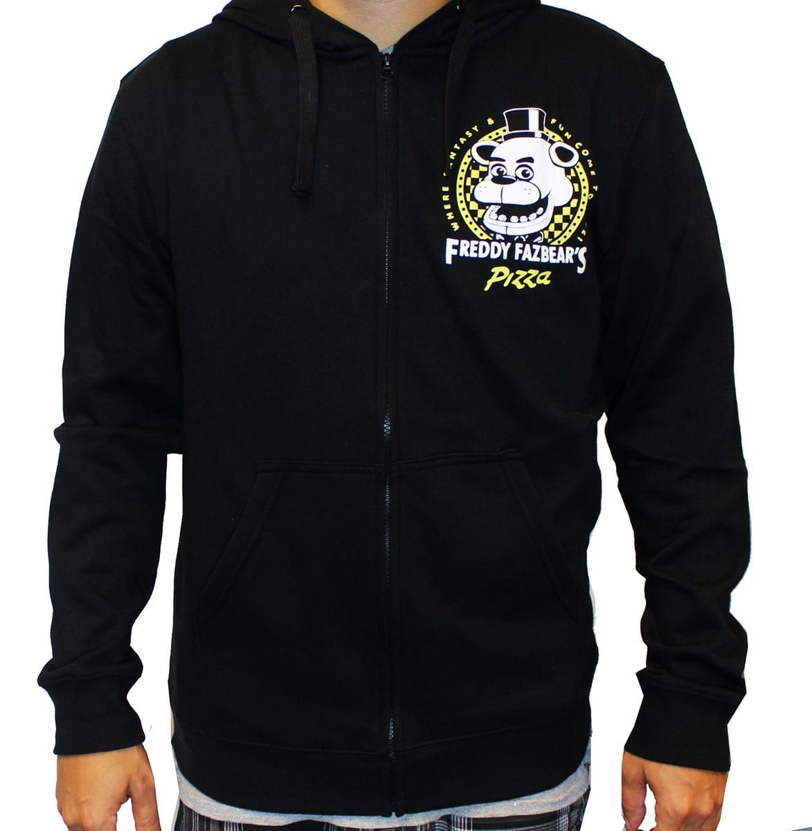 Five Nights At Freddy's Freddy Fazbear's Pizza Adult Hoodie Medium
