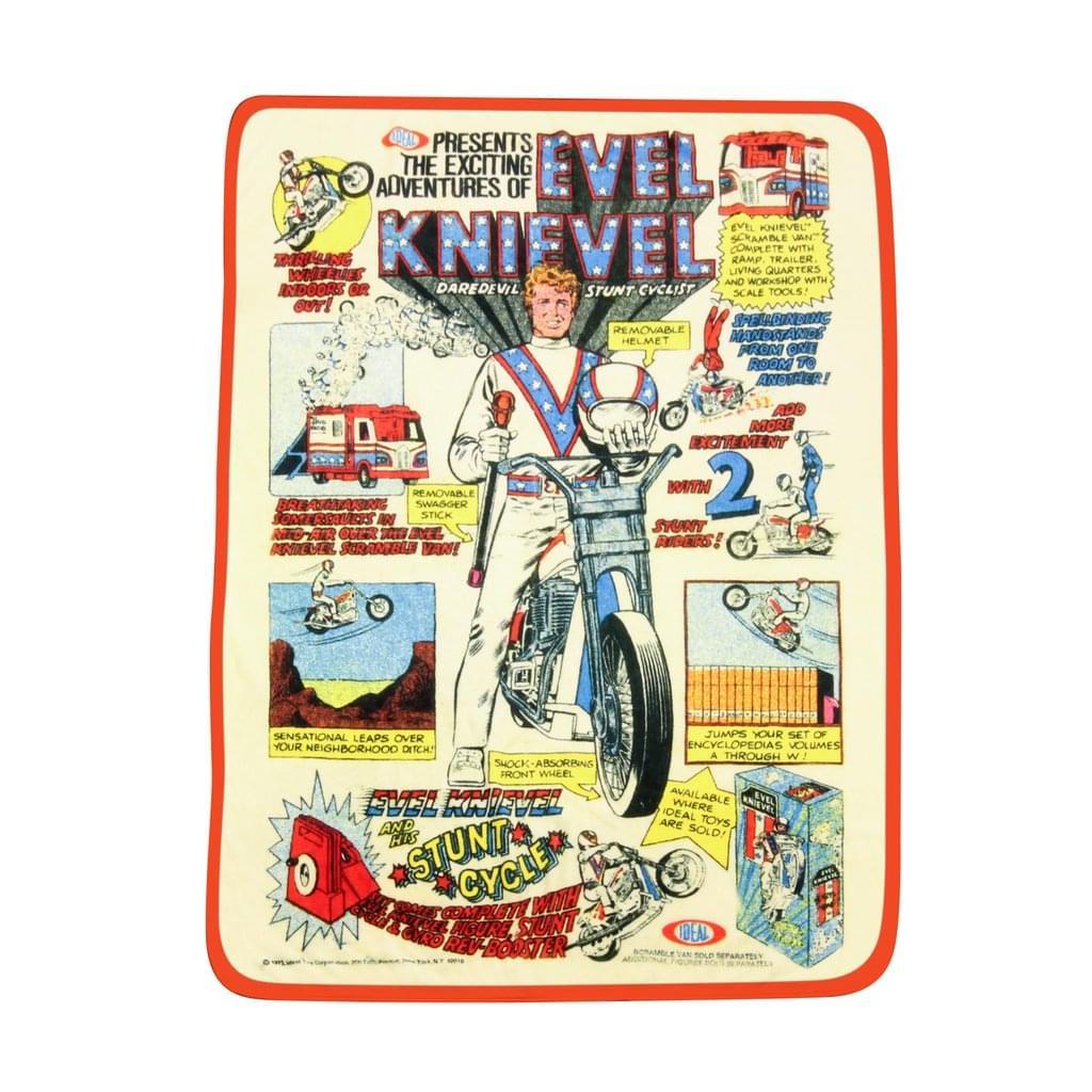 Evel Knievel Plush Lightweight Fleece Throw Blanket | 45 x 60 Inches