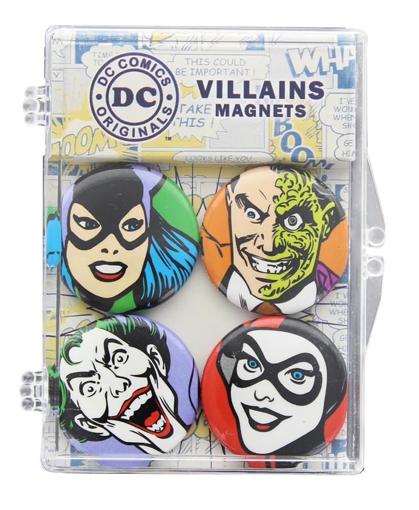 DC Comics Villains Magnet 4-Pack