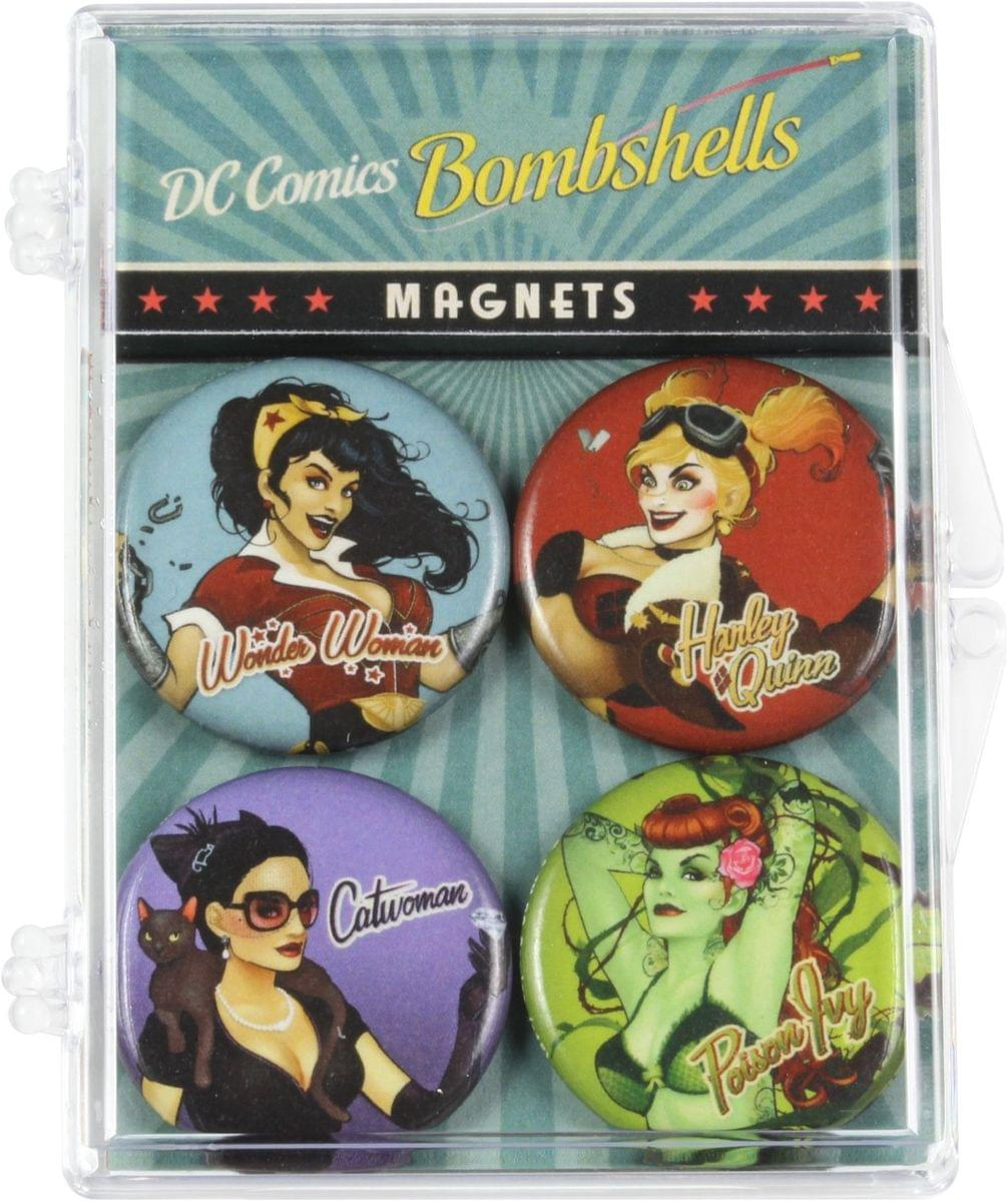 DC Comics Bombshells Magnet 4-Pack