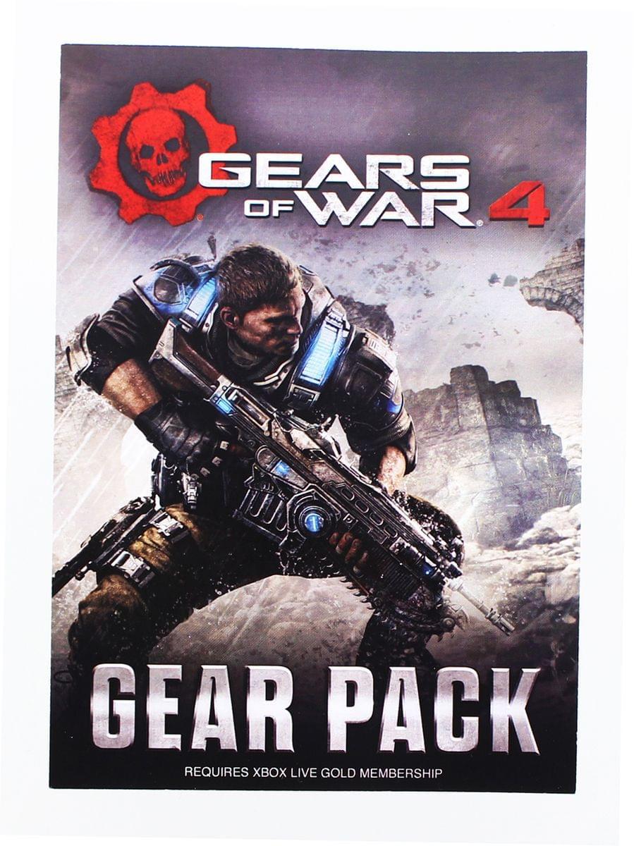 Gears of War 4 Gear Pack Code Card