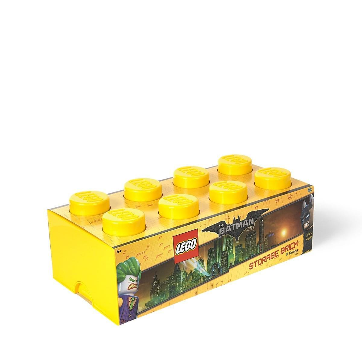 LEGO Storage Brick 8, Bright Yellow (Batman)