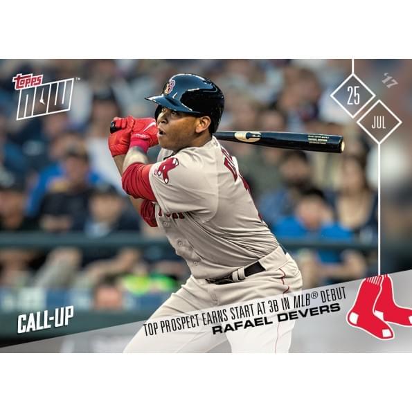 MLB Boston Red Sox Rafael Devers #391 2017 Topps NOW Trading Card