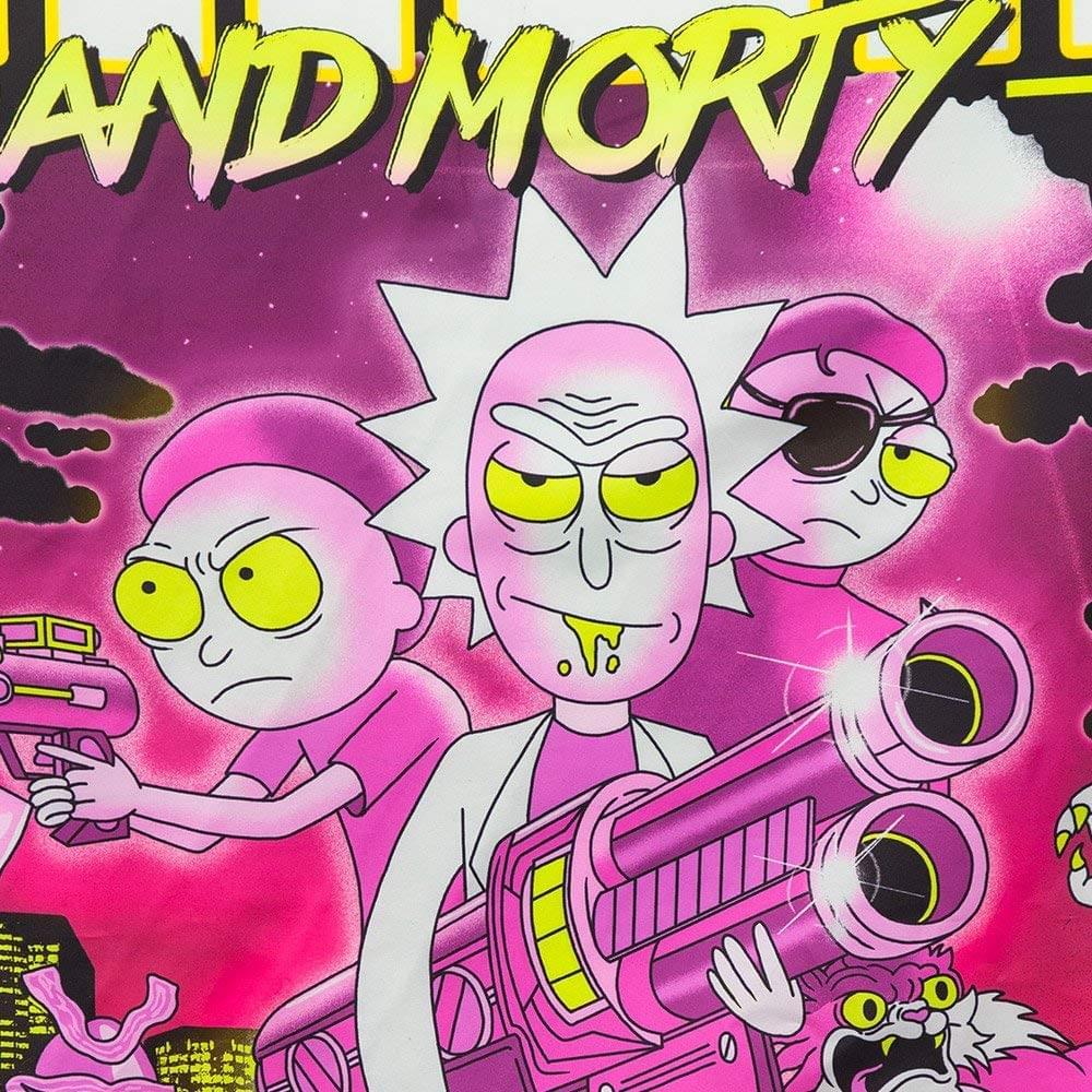 """Calhoun Rick and Morty Wall Banner 30/"""" by 50/"""" Retro Rick"""