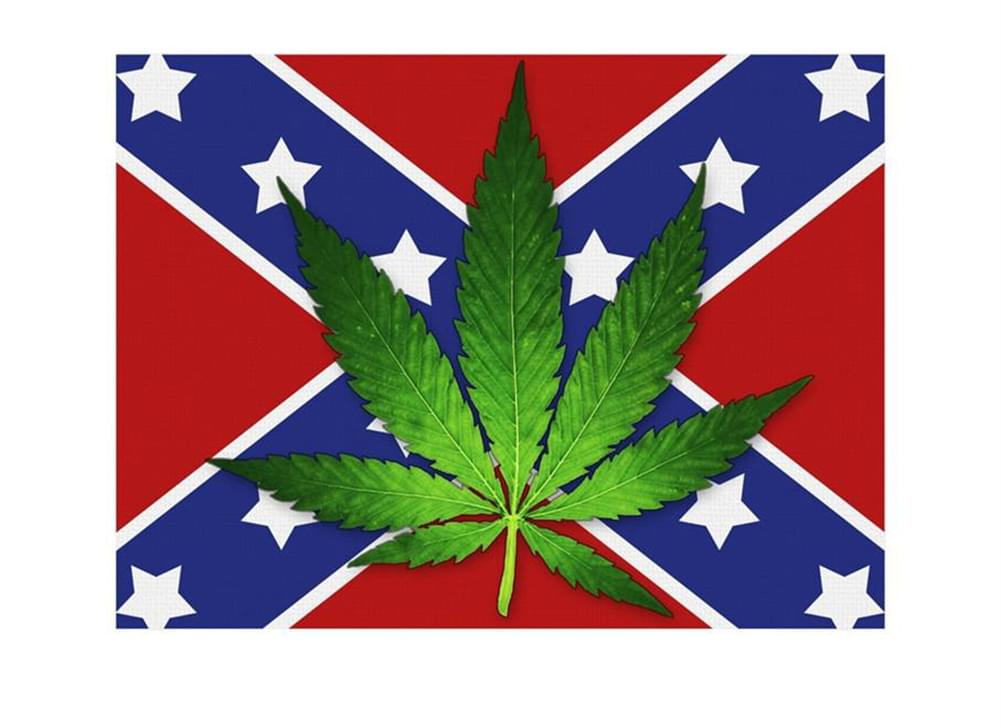 Confederate Flag With Pot Leaf Lightweight Fleece Throw Blanket | 45 x 60 Inches