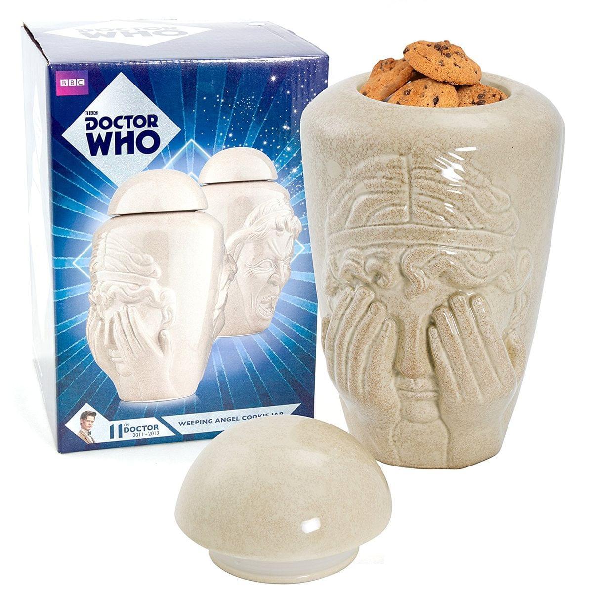 Doctor Who Weeping Angel Ceramic Cookie Jar