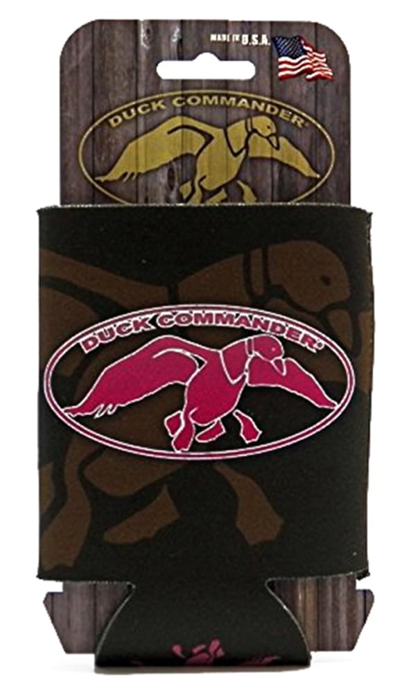 Duck Dynasty Logo Can Cooler Cooler Brown With Pink Logo