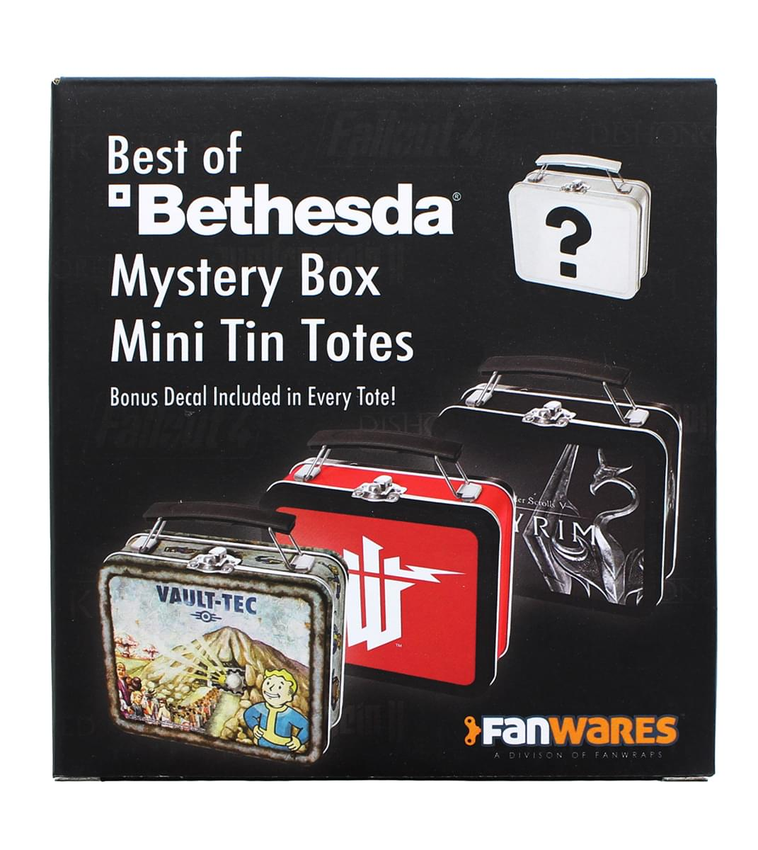Bethesda Games Mystery Tin Mini Tote Lunchbox-Style Container |One Random Tote