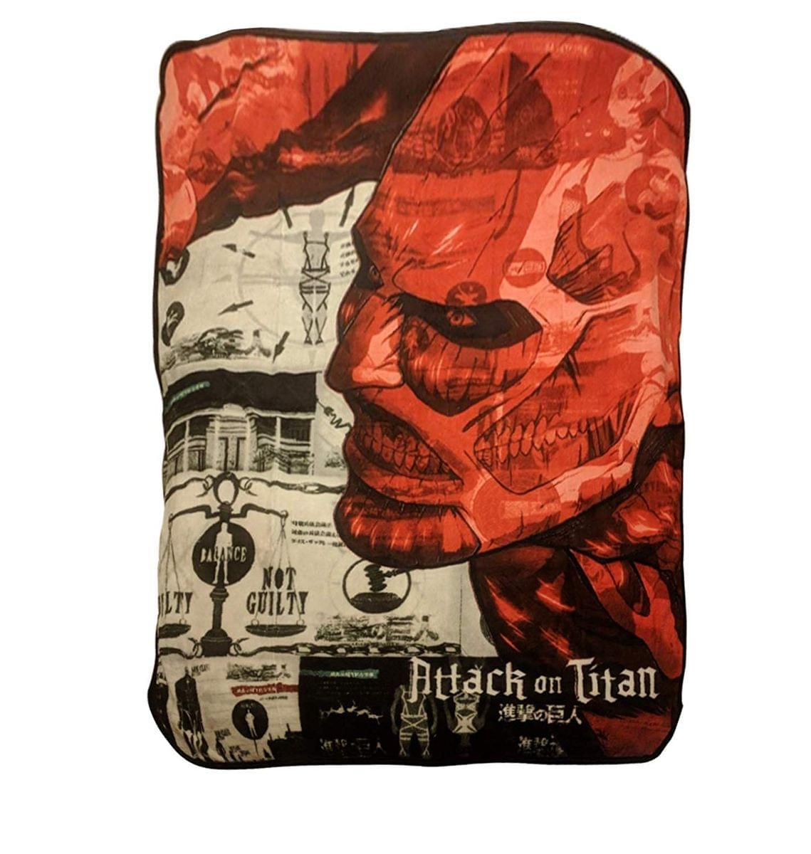 Attack on Titan Colossal Titan Lightweight Fleece Throw Blanket | 45 x 60 Inches