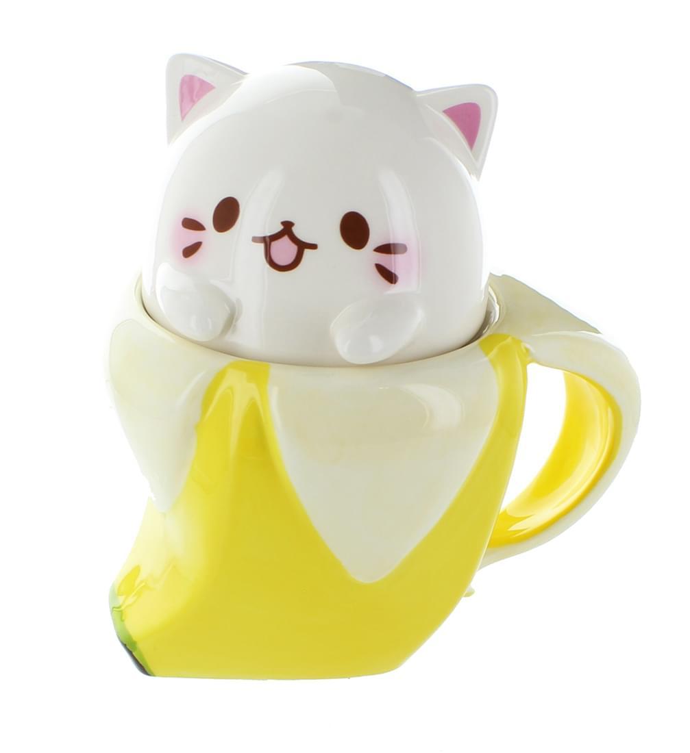 Bananya 14oz Ceramic Molded Mug