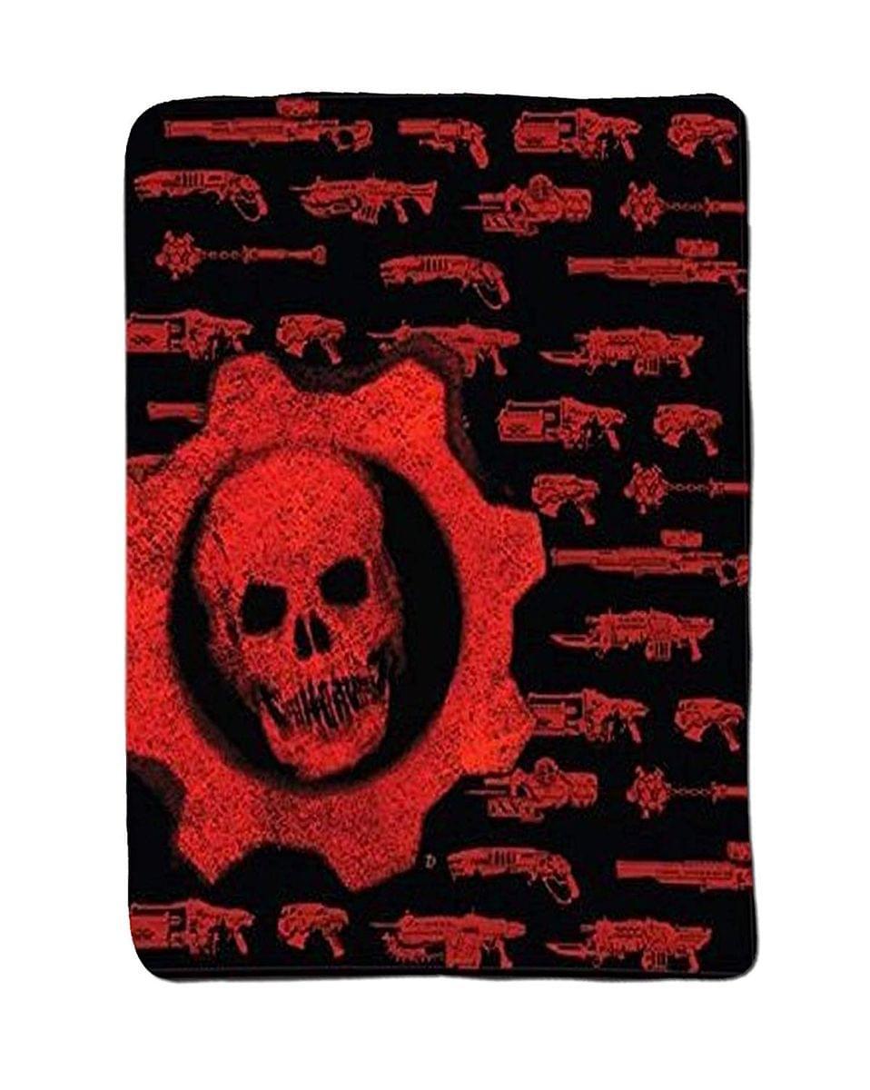 Gears of War Crimson Omen Guns Lightweight Fleece Throw Blanket | 50 x 60 Inches