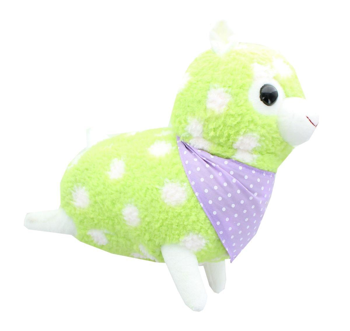 Alpaca 12-Inch Plush w/ Bandana - Pastel Green