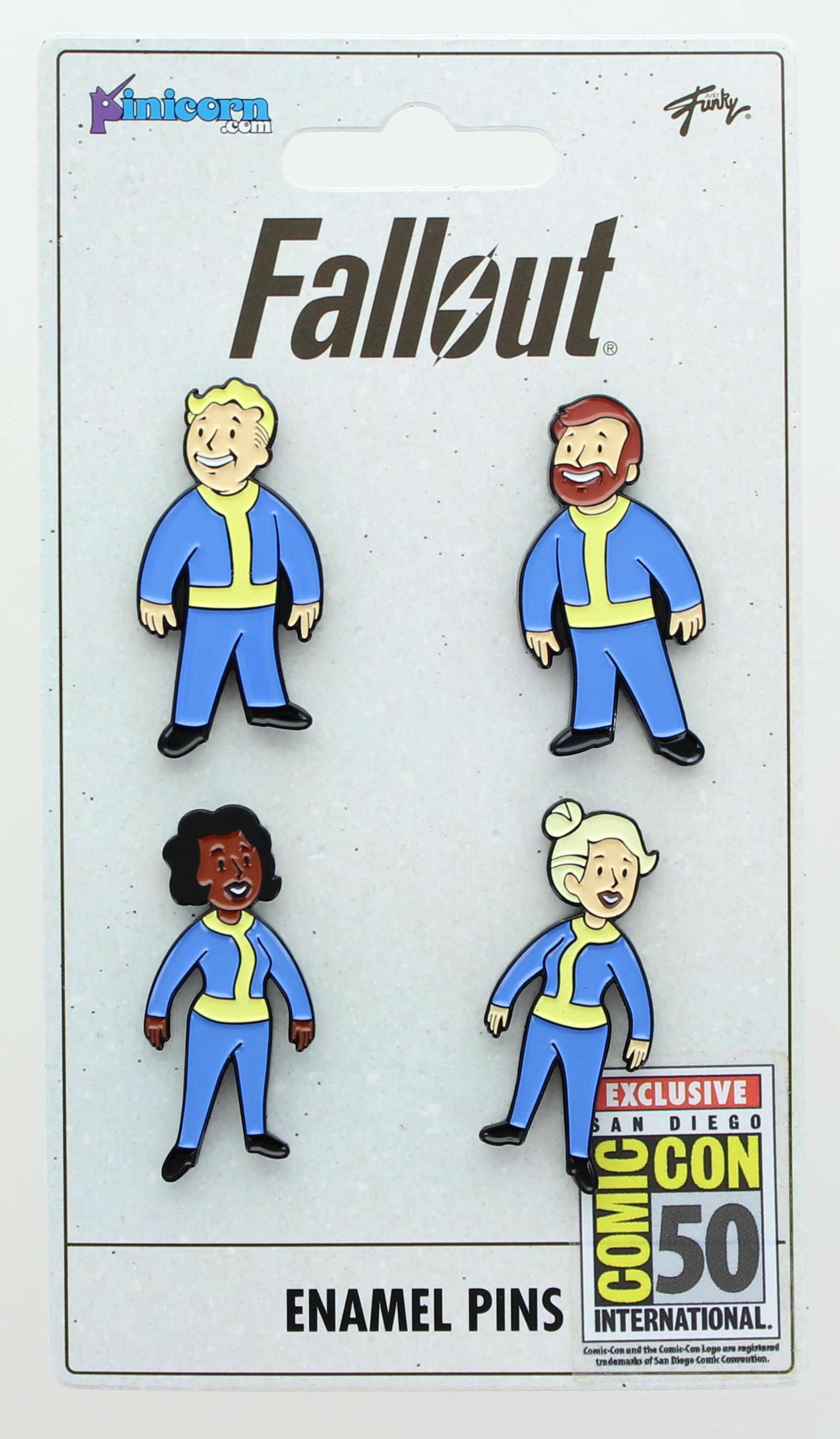 Fallout Vault Dweller Pins | Collectible Metal Enamel Pin Set | Includes 4 Pins
