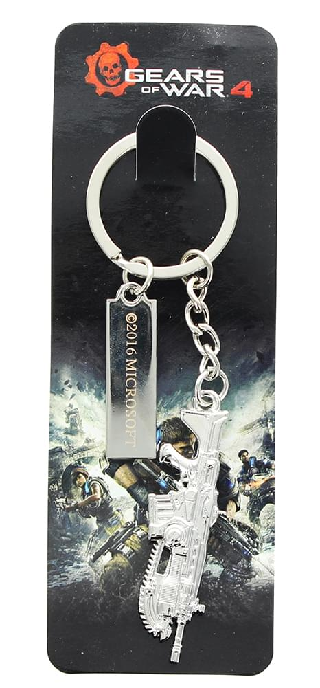 Gears of War 4 Lancer Pewter 3D Relief Key Ring