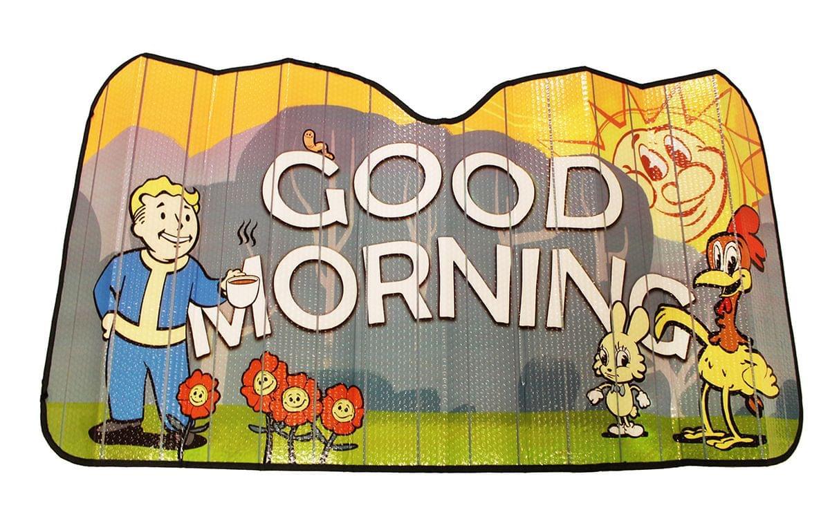 Fallout Good Morning Accordion Auto Sunshade | Xbox Game Merchandise