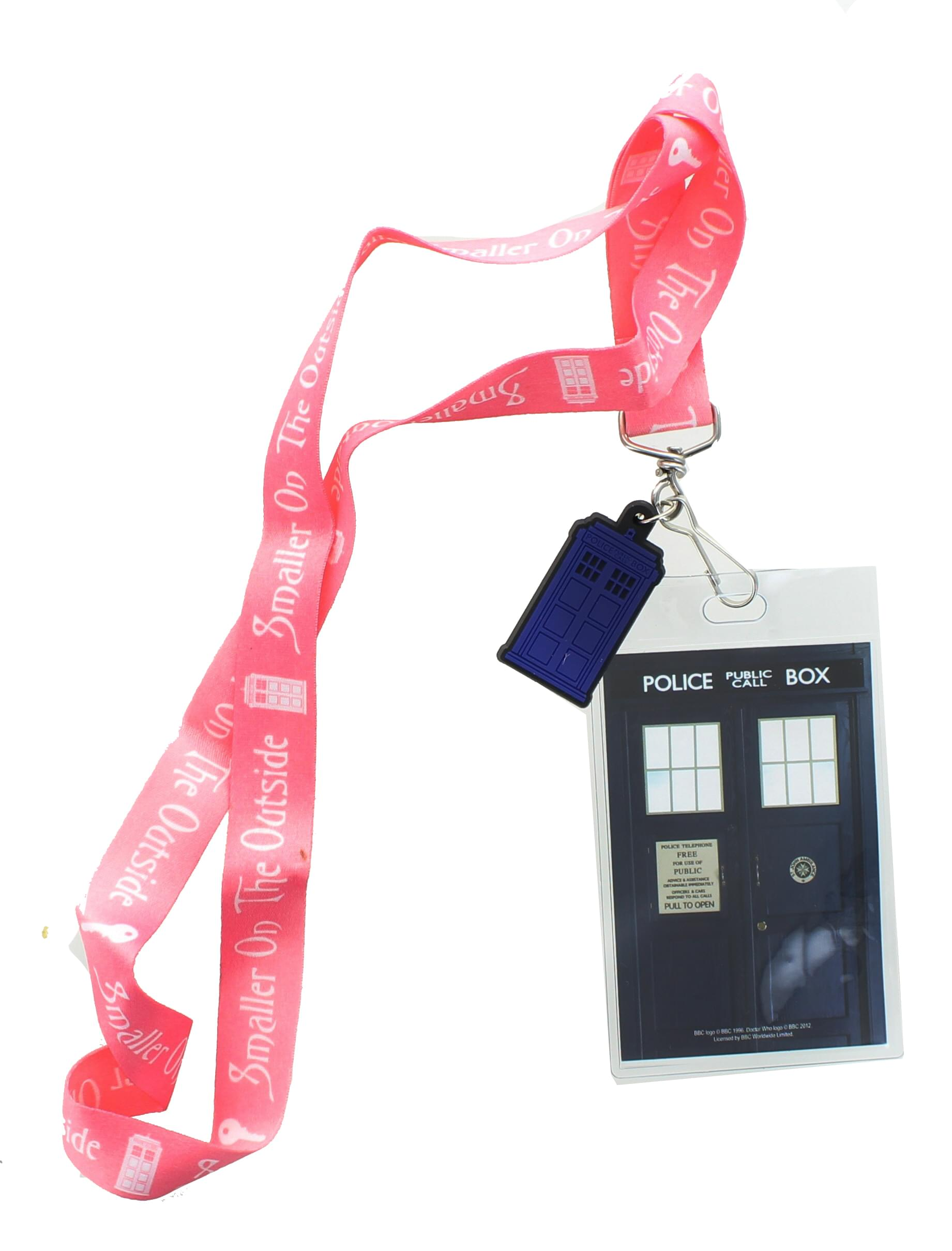 Doctor Who Smaller On The Outside with 2D TARDIS Lanyard Charm