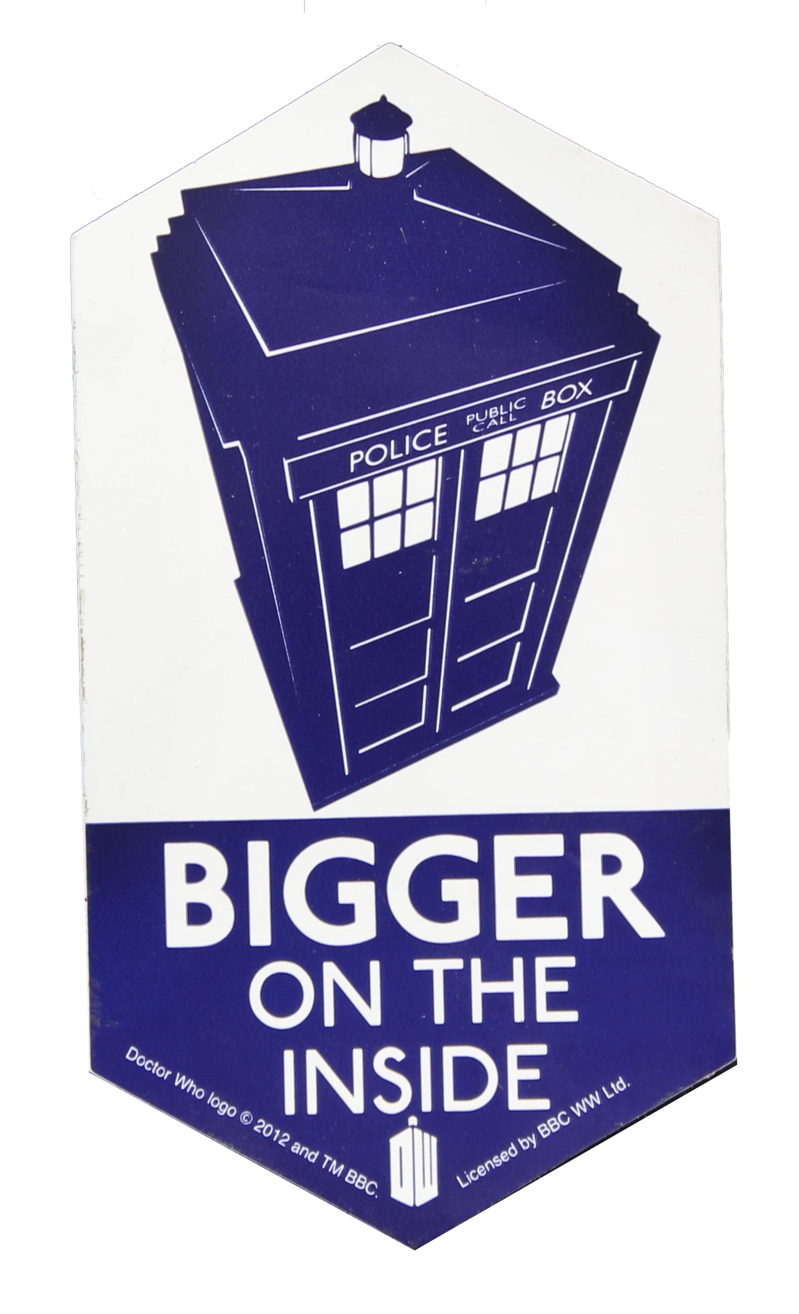 Doctor Who Sticker: Bigger On The Inside
