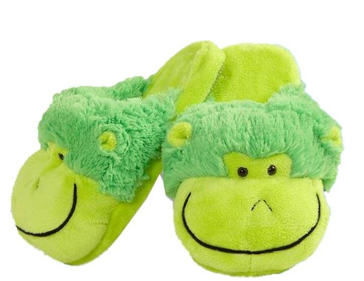 My Pillow Pets Neon Monkey Slippers Small Up To Toddler 10
