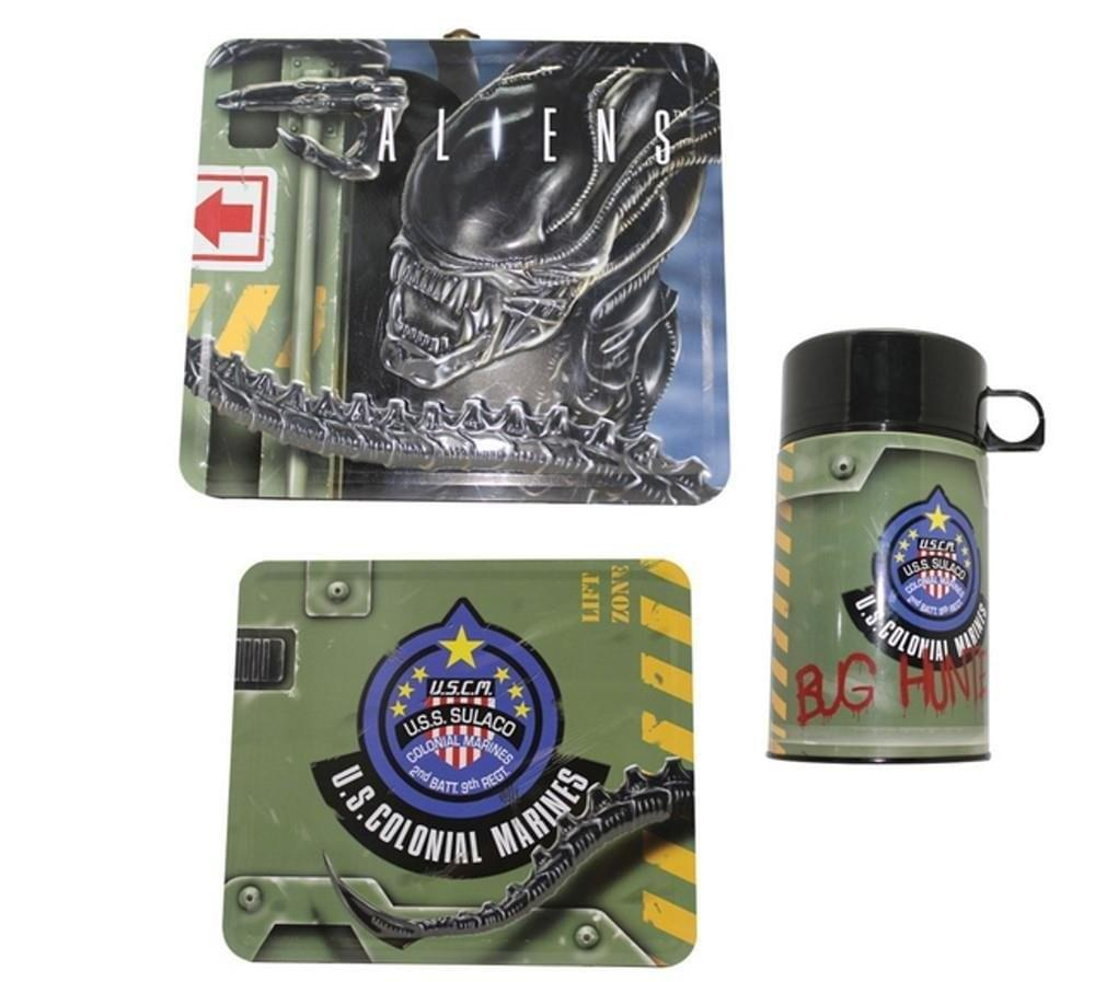 Aliens Tin Lunch Box with Thermos
